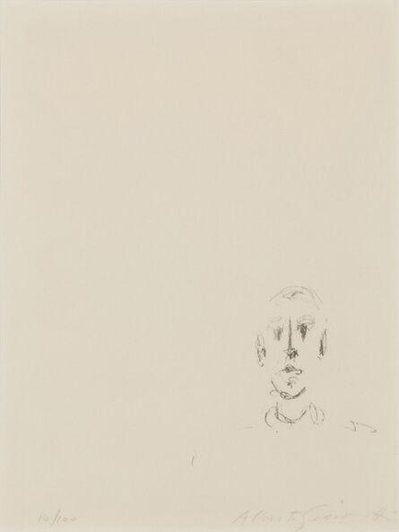 Alberto Giacometti, 'Tête d'homme', 1957