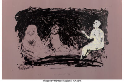 Eric Fischl, 'Annie, Gwen, Lilly, Pam and Tulip (Three Seated Women)', 1986