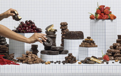 Charlie White, 'Still Life of Chocolates with Taker', 2014