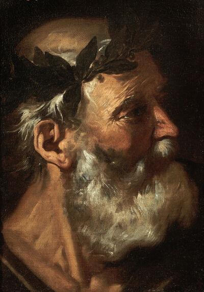 Pier Francesco Mola, 'Head of a Classical Poet (Homer or Socrates)', 1660-1670