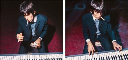 "Bent Rej, '""Keith Playing Piano II"" Keith Richards Backstage, Copenhagen 1965', 1965"