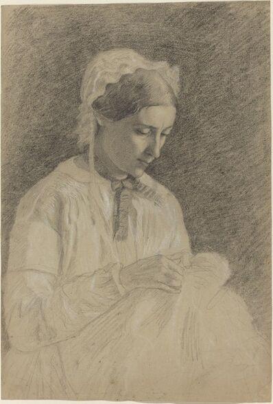 Edgar Degas, 'Woman Embroidering', 1855/1860