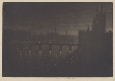 Joseph Pennell, 'Westminster, Evening', 1909
