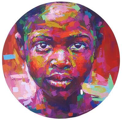 Solomon Omogboye, 'Acrylic on Round Canvas', 2021