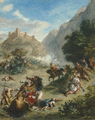 Eugène Delacroix, 'Arabs Skirmishing in the Mountains', 1863
