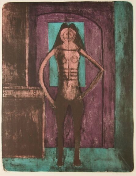 Rufino Tamayo, 'Femme Au Collant Noire (Woman with Black Tights)', 1969