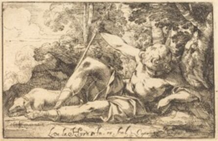 Laurent de La Hyre, 'Narcissus at the Spring', 1620s