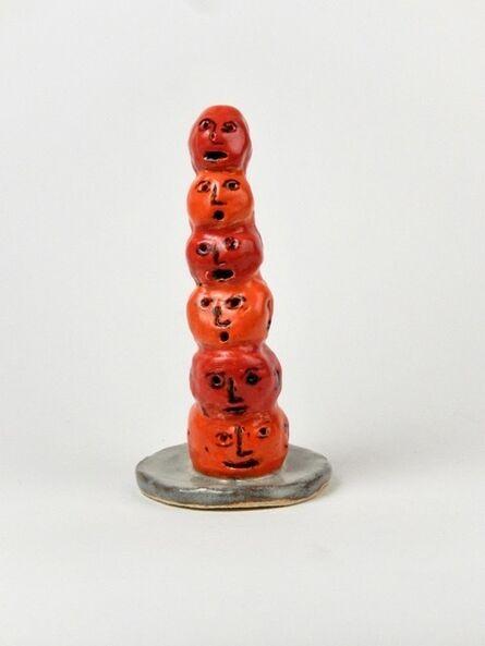 Linda H. Smith, 'Orange Head Totem', 2019