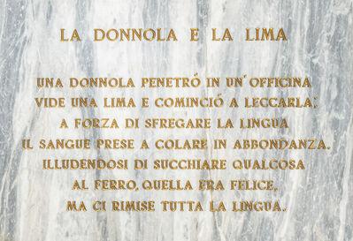 Salvo, 'La donnola e la lima', 1972