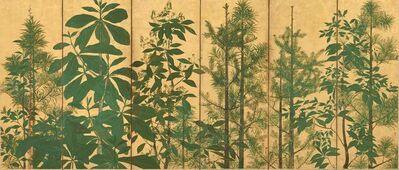 """Tawaraya Sōtatsu, 'Trees. Sotatsu School, """"Inen"""" seal. ', mid-17th century"""