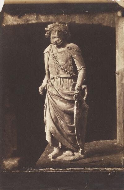 Charles Nègre, 'Moulage en Plâtre d'une Statue du Roi David, Cathédrale de Chartres', 1854 / 1854