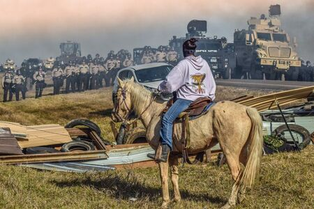 "Ryan Vizzions, '""Defend The Sacred"": Standing Rock, Cannon Ball, North Dakota, 2016 '"