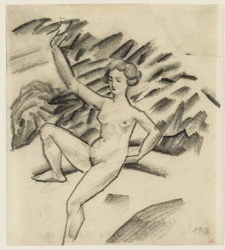 August Macke, 'Stilisierte Badende (Stylized bathing woman)', 1912