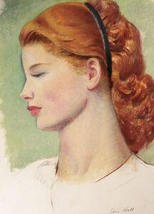 Leon Kroll, 'Portrait of a Redhead in Profile', 1925-1935