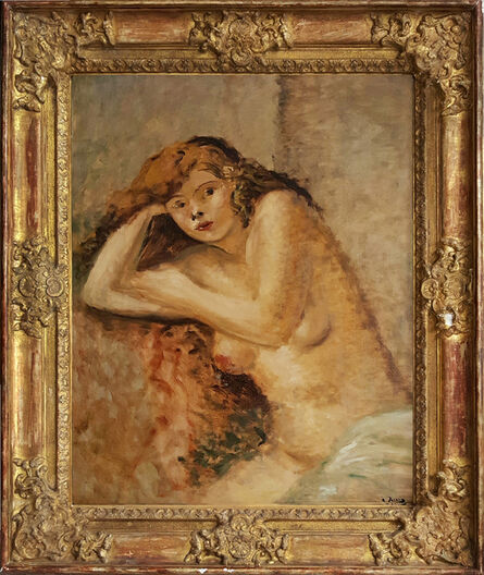 André Derain, 'Le Modele Roux, Nude girl', 1926