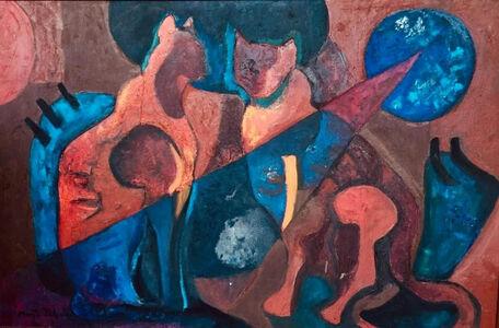 Marta Palau, 'Gatos con luna', 1966