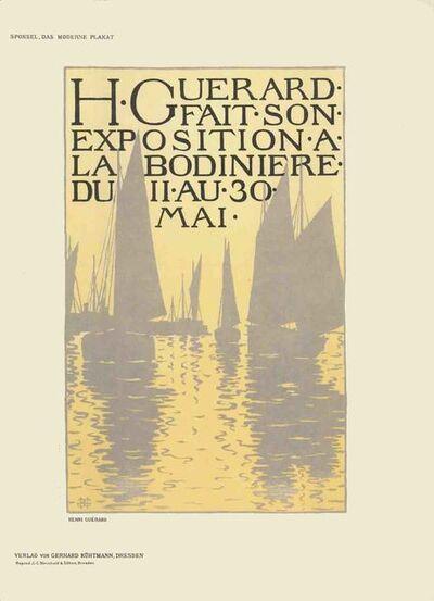 Henri-Charles Guérard, 'Henri Guerard - Exposition a La Bodiniere - 1897', 1897