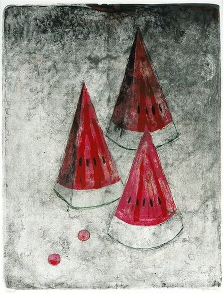 Rufino Tamayo, 'Pastèque #2, from Mujeres', 1969