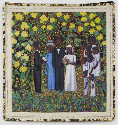 Faith Ringgold, 'Coming to Jones Road Part 2 #7: Our Secret Wedding in the Woods', 2010