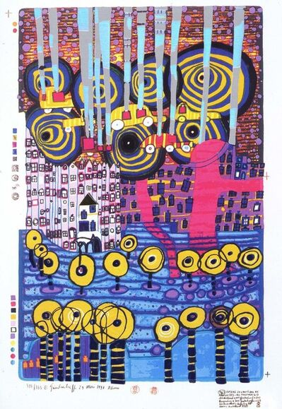 Friedensreich Hundertwasser, 'Secret Flowers of the King (2118)', 1997