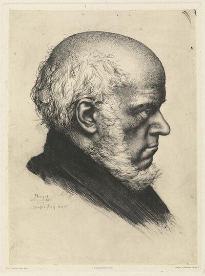 Karl Stauffer-Bern, 'Adolph Menzel', 1885