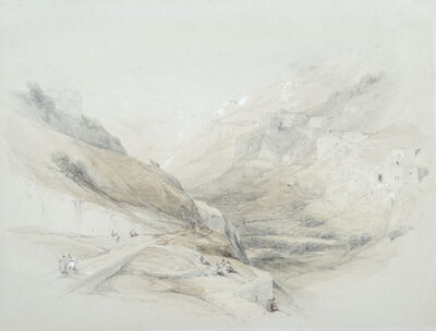 David Roberts, 'The Lower Pool of Siloam, Valley of Jehoshaphat', 1839