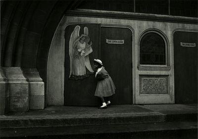 Yasuhiro Ishimoto, 'Chicago (girl at church entrance)', 1959, 1961, printed late 1970s