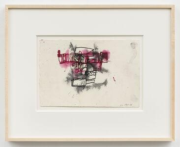 Barry Le Va, 'Black & Maroon Felt, Glass (Whitney Variations)', 1967/1998