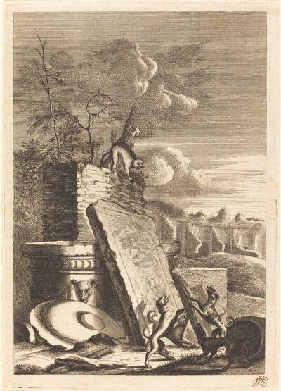 Bernhard Zaech after Jonas Umbach, 'Dogs Pursuing a Cat', ca. 1650