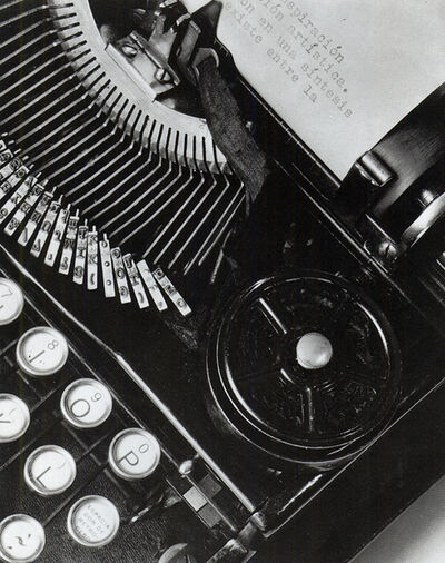 Tina Modotti, 'Mella's Typewriter or La Técnica (', 1928