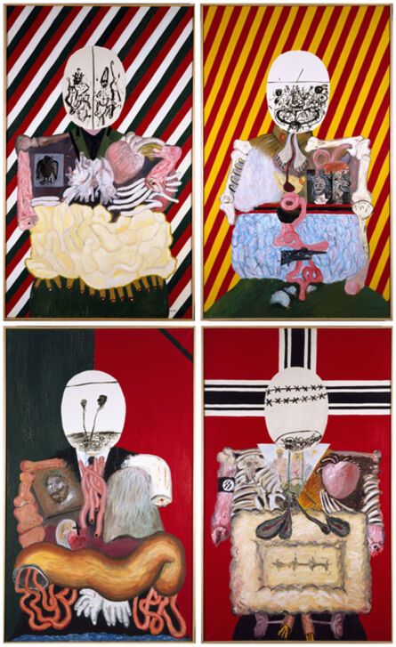 Eduardo Arroyo, 'Los cuatro dictadores (The Four Dictators)', 1963