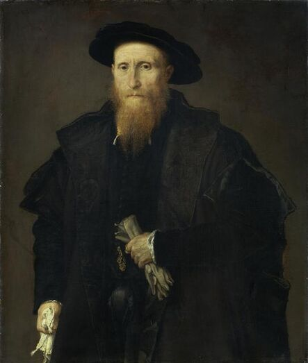 Lorenzo Lotto, 'Portrait of a gentleman with gloves', ca. 1543