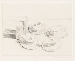 Wayne Thiebaud, 'Lunch (Delights portfolio)', 1965