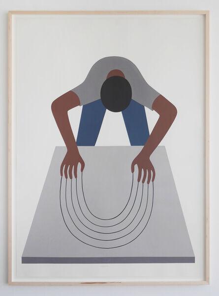 Geoff McFetridge, 'Bend the Void (Guy Clawing)', 2016