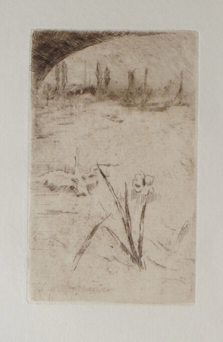 James Abbott McNeill Whistler, 'Sketch after Cecil Lawson's 'Swan and Iris'', 1882