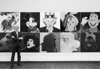 Robert Levin, 'Andy Warhol at R. Feldman Gallery with Myths 1981', 2015