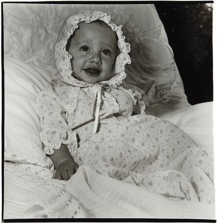 Diane Arbus, 'Baby in a lacey bonnet, N.Y.C.', 1968
