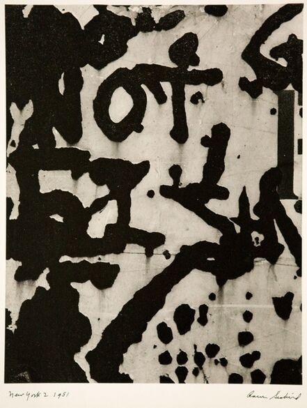 Aaron Siskind, 'New York 2', 1951-printed c1970