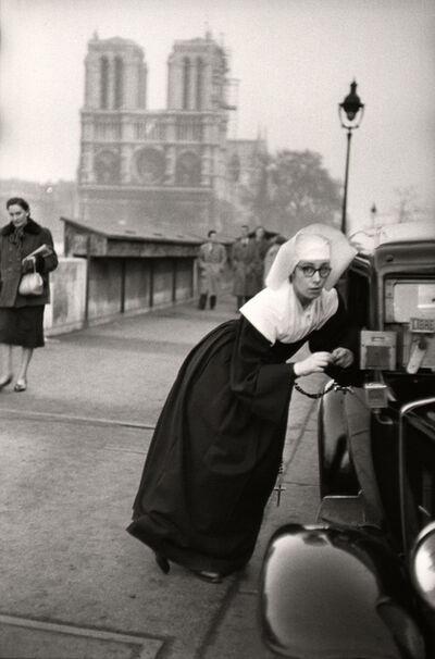 Marc Riboud, 'Nun in front of Notre-Dame, Paris.', 1953