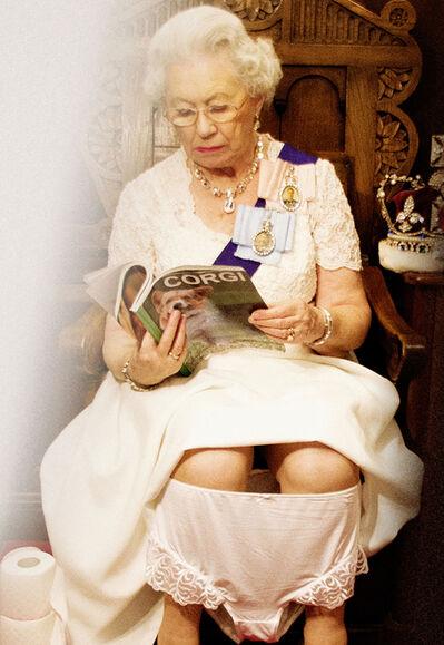 Alison Jackson, 'Queen on the Loo in Regalia', 2016
