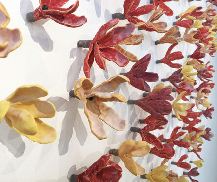 Bradley Sabin, 'Floral Wall Installation: Red Yellow Orange (available on commission) dimensions variable ', 2020
