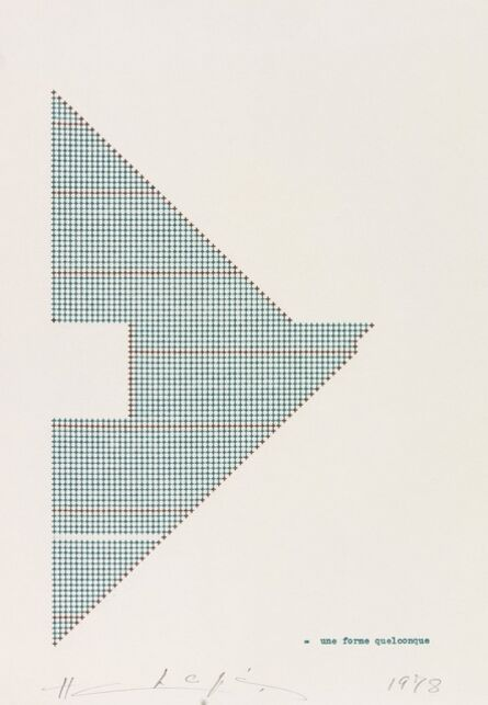 Henri Chopin, 'Une Forme Quelconque', 1978