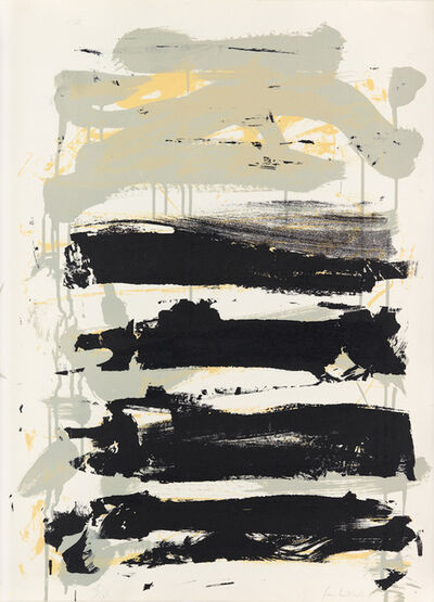 Joan Mitchell, 'Champs - Black, Grey and Yellow', 1991
