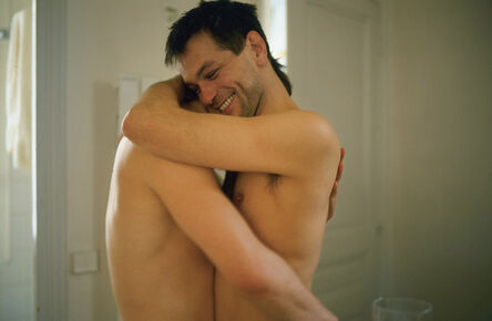 Nan Goldin, 'Clemens and Jens embracing in my hall, Paris', 2001