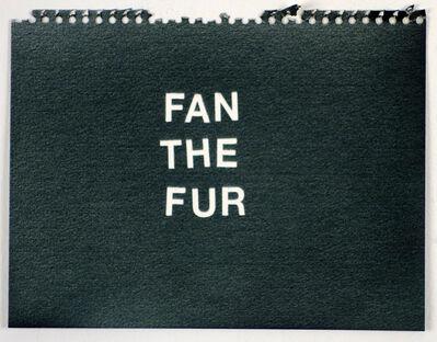Betty Tompkins, 'Fan the Fur (black)'
