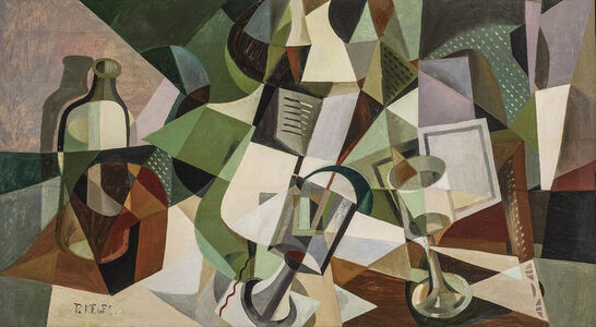 Paul Kelpe, 'Still Life with Bottles, Glass and Grater', ca. early 1920s