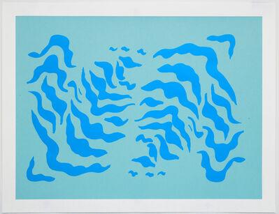 Sarah Crowner, 'Stripe Print (test) 1 ', 2020