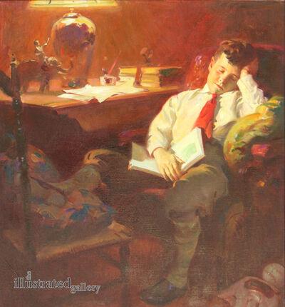 Haddon Sundblom, 'Boy Falls Asleep in a Chair With Book in His Lap', 1928