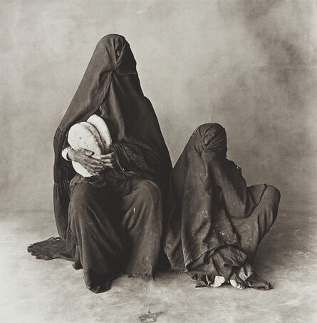 Irving Penn, 'Two Women in Black with Bread, Morocco', 1971-printed 1986