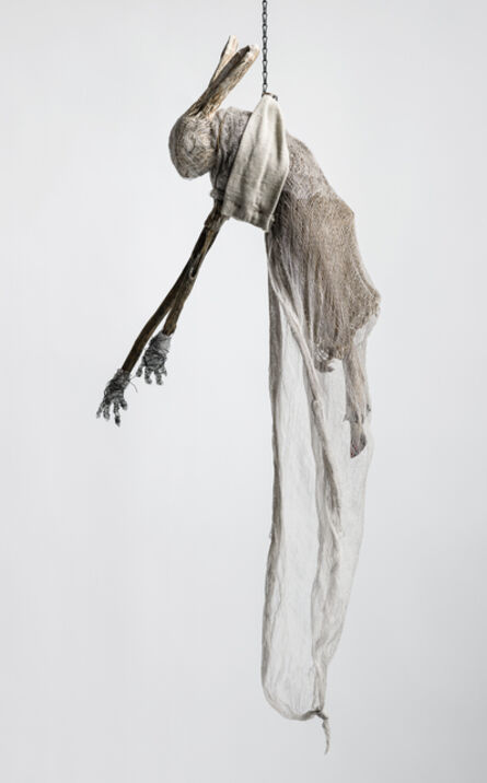 Elizabeth Jordan, 'Sculpture of hare suspended from chain: 'Children 8'', 2020